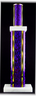 "Single Wide & Narrow Column Combo Trophy, 5"" Base"