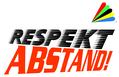 Respekt-Abstand Logo mit dem Regenbogen