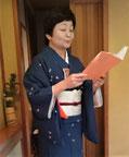 介護予防教室での音読健康教室 講師:日榮貴子