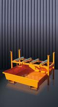 Soporte de barril en obras