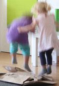 pädagogische Kernzeit: Zeit zum Spielen, toben und für Kreativität.