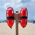 Rettungsschwimmer an der Playa den Bossa in Ibiza