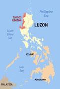 "Map of Region I (All Maps, Creative Commons Photos by Eugene Alvin Villar or ""Seav"" on Wikipedia)"