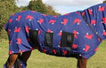 Snuggy Jams Rug - Blue Horse Heads