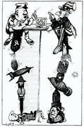 Carricature de R. Lurie de 1970 (DR)