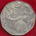 MONEDA AUSTRIA - KM 3113 - 5 EUROS AUSTRIA - 100 AÑOS DE FÚTBOL - 2.004 - PLATA - PESO : 10 GRM. - DIÁMETRO : 28,5 MM. (SC) 20€.