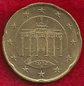 MONEDA ALEMANIA - KM 211 - 20 CÉNTIMOS DE EURO - 2.002 (D) ORO NÓRDICO (MBC+/VF+) 0,50€.