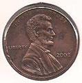 MONEDA ESTADOS UNIDOS - KM 201b - 1 CÉNTAVO DE DÓLAR USA - 2.008 - COBRE (MBC-/VF-) 0,60€.