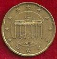 MONEDA ALEMANIA - KM 211 - 20 CÉNTIMOS DE EURO - 2.002 (G) ORO NÓRDICO (MBC+/VF+) 0,75€.