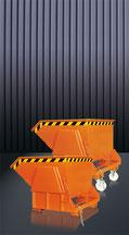 Cubo para la construcción auto basculante