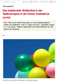18.07.2013 - CityNews Köln - Text: Heribert Eiden