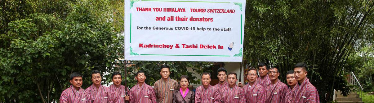 Corona Hilfe in Nepal, Bhutan, Ladakh, Tibet und Indien