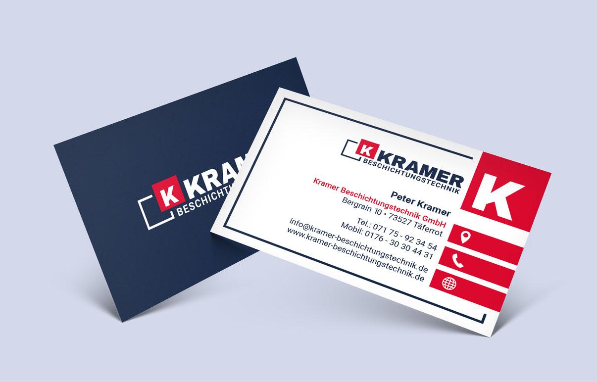 Kramer Beschichtungstechnik Visitenkarte