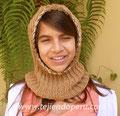 Cómo tejer una capucha con cuello en dos agujas o palitos