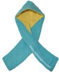 Tutorial: capucha con bufanda forrada tejida en dos agujas o palit