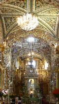 Gold, Gold und nochmals Gold... in der Kirche Santa Maria in Tonantzintla