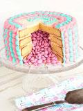 Gâteau annonce sexe bébé fête gender reveal cake