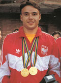 1992 Barcelona: Arkadiusz Skrzypaszek (POL) wins individual and team gold