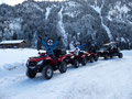Gruppenspass auf der Schneequadtour