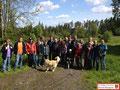Wandergruppe im Grenzgebiet Wölsauer- hammer/Haingrün