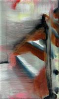 Treppe 3  25 x 15 cm  Acryl auf Leinwand