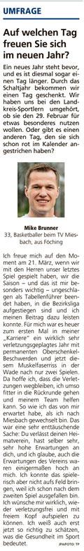 Artikel im Miesbacher Merkur am 2.1.2020 - Zum Vergrößern klicken