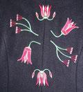 Bild: Abbildung eines gestickten Blumenmotives