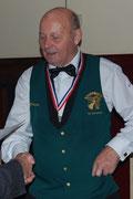 Simon van Noort, districtkampioen  driebanden 2e klas bij Hof van Holland in Bergen op Zoom