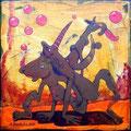 """""""Zungenspitzengefühl"""" Acryl auf LW 20x20 (12/2011)"""
