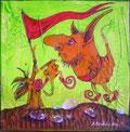 """""""Hornflags"""" Acryl auf LW 20x20 (01/2012)"""