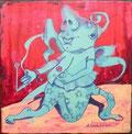 """""""Suppensucht"""" Acryl auf LW 20x20 (12/2011)"""