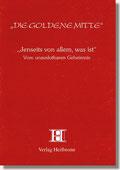 Reihe Goldene Mitte Heft 24 - Jenseits von allem, was ist - Vom unauslotbaren Geheimnis - Buchcover