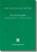 Reihe Goldene Mitte Heft 25 - Aus dem Koran - Assalamo Allaikum - Friede sei mit Dir - Buchcover