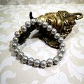 Bracelet perles grises