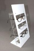 Brillenständer acryl weiß und transparent