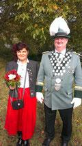 Bezirkskönig Siggi mit Gattin Claudia Hering