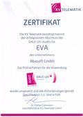 EVA Praxissoftware abasoft Zertifizierung DALE-UV