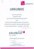 EVA Praxissoftware abasoft Urkunde eArztbrief