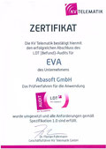 EVA Praxissoftware abasoft Zertifizierung LDT