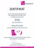 EVA Praxissoftware abasoft Zertifizierung LDT Befund-Audit Labordaten Labordatenfernübertragung labordaten übertragen