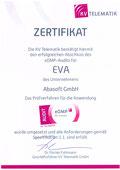 EVA Praxissoftware abasoft Zertifizierung eDMP