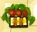レバーペーストとチーズのオーオウンサンド