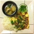 マーボー丼             (水煮魚の調味朝編)