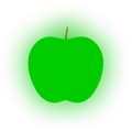 Icon for green traffic light apple low