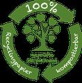 Das besondere am Tütle ist das Material. Diese Tüte wird aus hundert Prozent recyceltem Altpapier hergestellt, welches komplett kompostierbar ist. Es ist ein Spezialpapier und eignet sich hervorragend als Einkaufstüte und Biomülltüte.