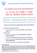 Hopital robert debre reins bernadette marchand lmc france journée association