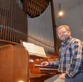 Ludger Morck an der Orgel