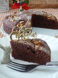 クリスマスケーキ風 チョコレートブラウニー