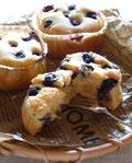ブルーベリー&ヨーグルトの米粉ケーキ