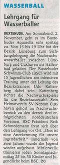 Buxtehuder Tageblatt vom 01.11.2013